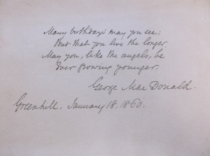 Birthday Card, written by George MacDonald in 1860